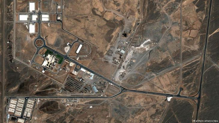 Aerial photograph of the nuclear facilities in Natanz, Iran (photo: picture-alliance/dpa)