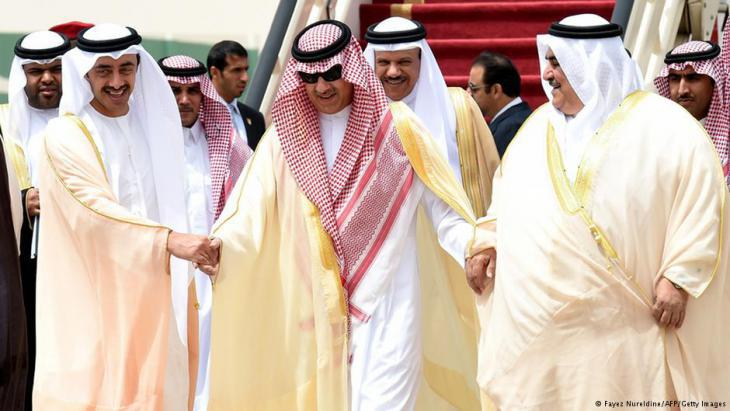 Arab leaders of the Gulf Cooperation Council (photo: Fayez Nureldine/AFP/Getty Images)