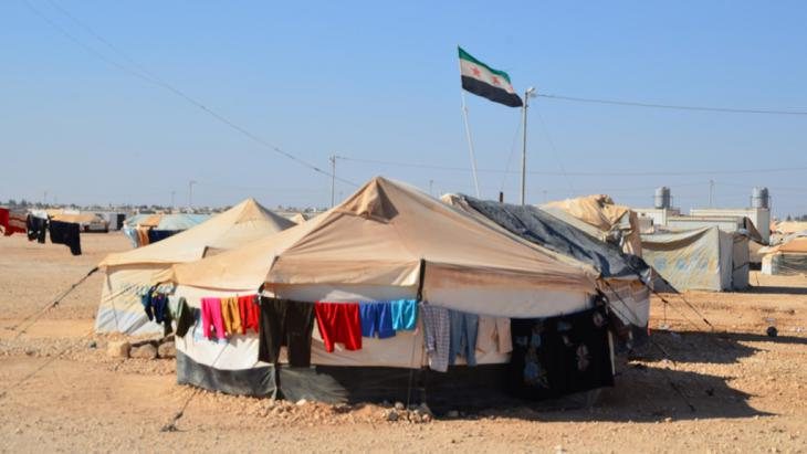 Tents at the Zaatari camp for Syrian refugees in Jordan (photo: DW/K. Shuttleworth)