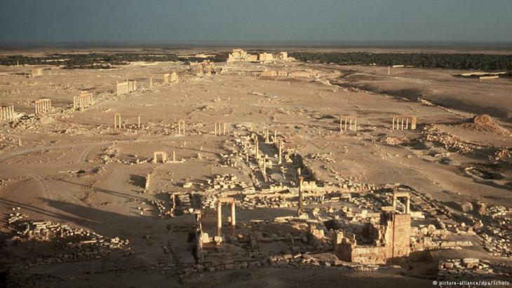 Aerial photo of the ruins of the ancient city of Palmyra (photo: dpa/picture-alliance)