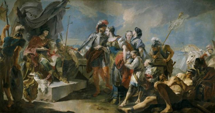 "The painting ""Queen Zenobia before Emperor Aurelian"" by Giovanni Battista Tiepolo (photo: picture-alliance)"