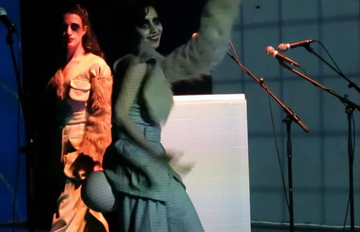 "A performance of ""2065 BC"" (photo: Ranan Elnemr)"