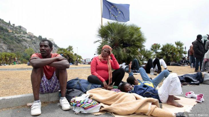 Refugees on the Italian–French border (photo: Getty Images/AFP)