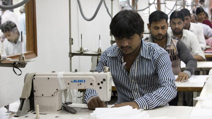 Workers in the April Cornell Clothing textile factory in New Dehli, India, 2014 (photo: Andrew Caballero-Reynolds/AFP/Getty Images)