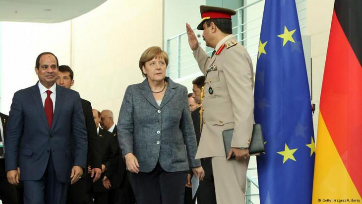 Abdul Fattah al-Sisi (left) and Angela Merkel (photo: Getty Images/A. Berry)