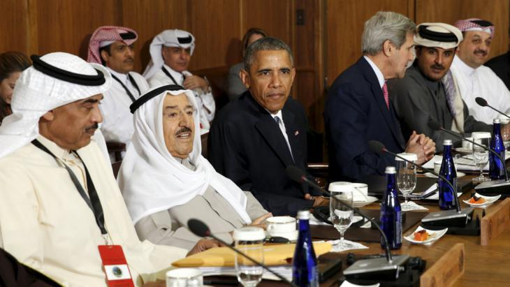 Representatives of the Gulf Cooperation Council and US President Barack Obama in Camp David (photo: Reuters/K. Lamarque)