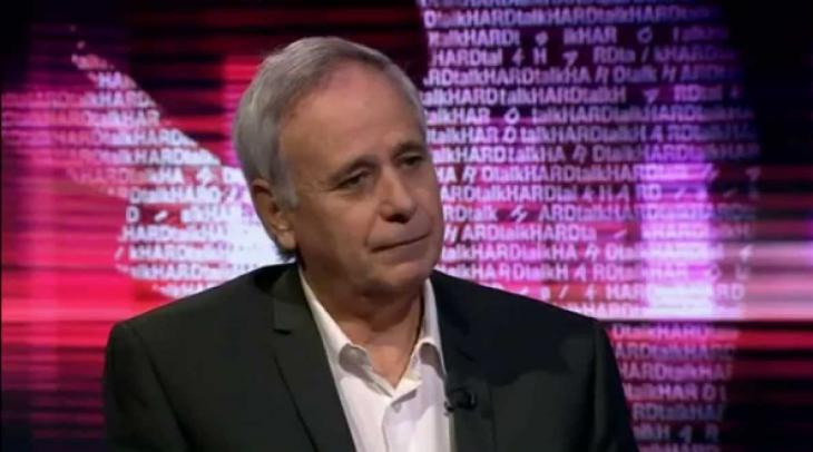 """Ilan Pappe, still from the BBC programme """"Hard Talk"""" (source: YouTube)"""