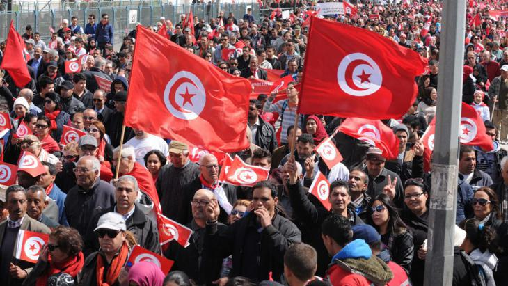 Protest march against terror in Tunis (photo: picture-alliance/dpa)