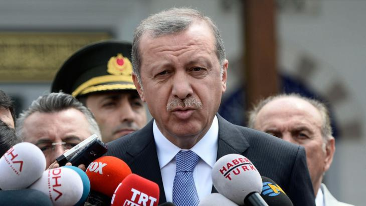 Turkish President Recep Tayyip Erdogan (photo: picture-alliance/AP Photo/Depo)