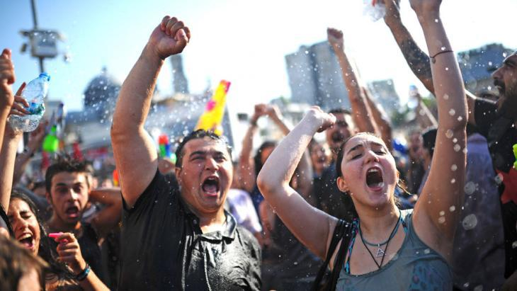 Young people during a Gezi Park protest in the summer of 2013 (photo: Bulent Kilic/AFP/Getty Images)