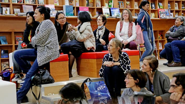 People at the Frankfurt Book Fair 2014 (photo: Frankfurter Buchmesse/A. Heimann)