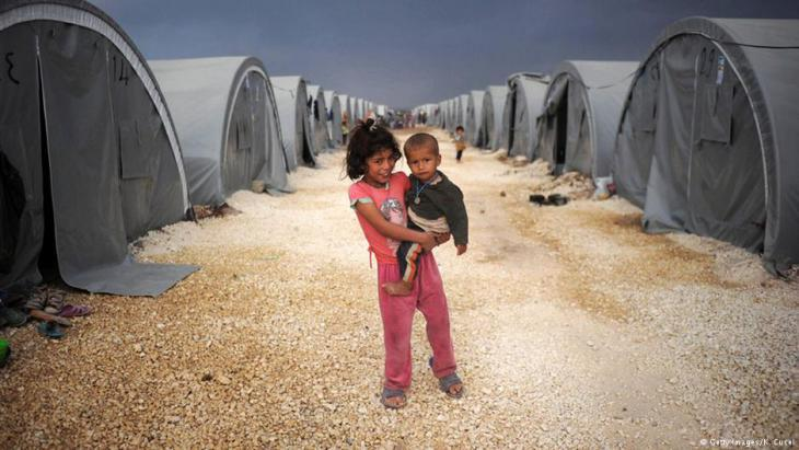 Suruc refugee camp getty images