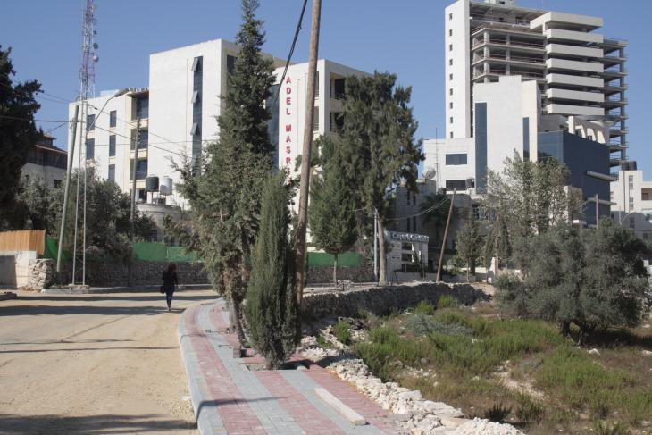 A view of Masyoun, one of Ramallah's newest districts (photo: Ylenia Gostoli)