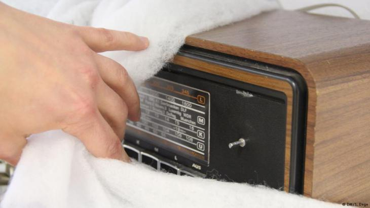 A radio that belonged to a Turkish migrant family (photo: DW/S. Dege)