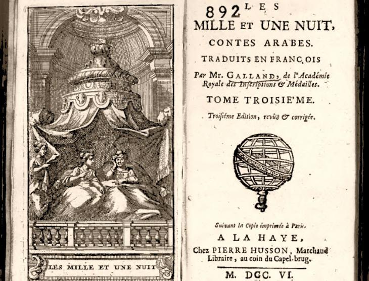 Translation of ″1001 Nights″ into the French by Antoine Galland