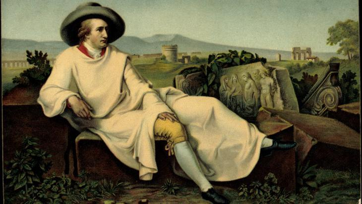 Portrait of Goethe in Italy (photo: picture-alliance/archive UG)