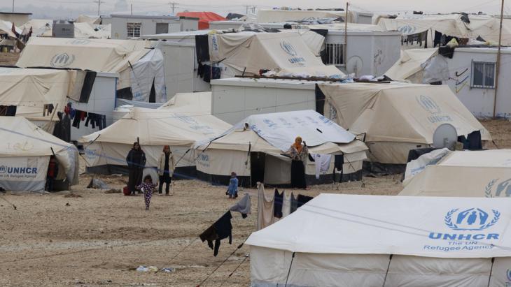 Zaatari refugee camp in Jordan (photo: Getty Images/AFP/K. Mazraawi)