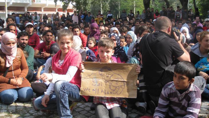 Refugees in the Turkish town of Edirne (photo: Kürsat Akyol)