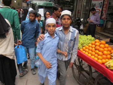Muslim boys in New Delhi (photo: Ronald Meinardus)