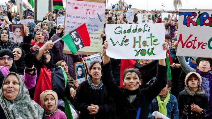 Demonstration in Tripoli (photo: dpa)