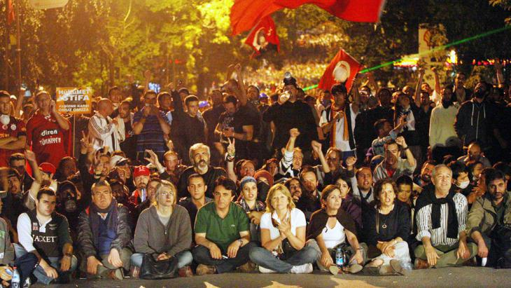 Demonstrators in Gezi Park on 16 June 2013 (photo: ADEM ALTAN/AFP/Getty Images)