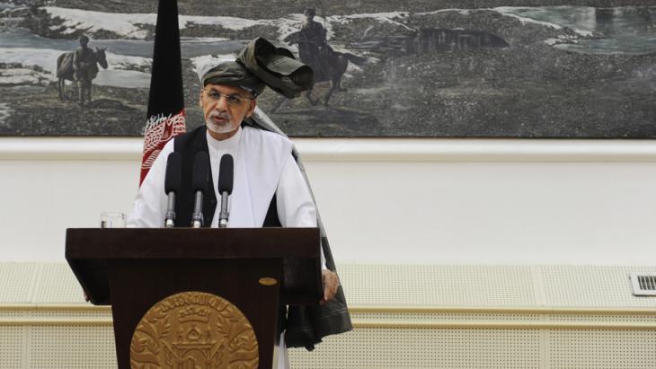 Afghanistan's president Ashraf Ghani (photo: picture-alliance/dpa/J. Jalali)
