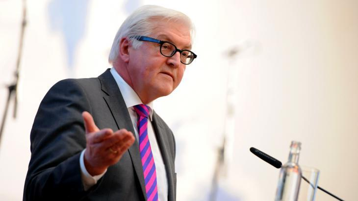 Germany's foreign minister, Frank-Walter Steinmeier (photo: picture-alliance/dpa/B. Pedersen)