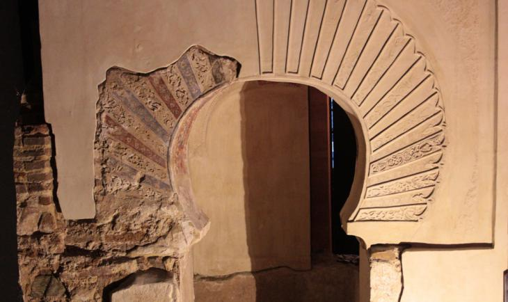 Remains of a mihrab niche in the cellar of San Juan de Dios church in Ibn Arabi′s hometown of Murcia (photo: Marian Brehmer)