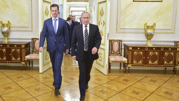 Syrian President Assad with Vladimir Putin in Moscow (photo: Reuters/RIA Novosti/Kremlin/A. Druzhinin)