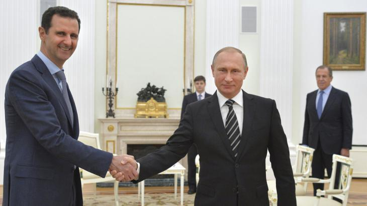 Assad with Putin during a state visit to Moscow on 20.10.2015 (photo: Reuters)