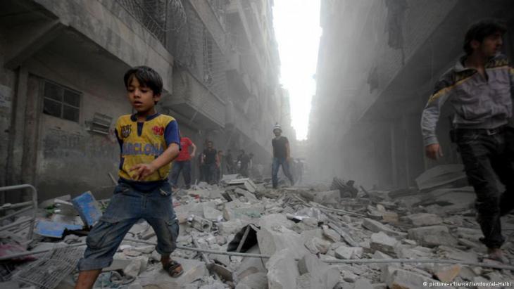 Destruction and violence in the Syrian civil war (photo: picture-alliance/landov)