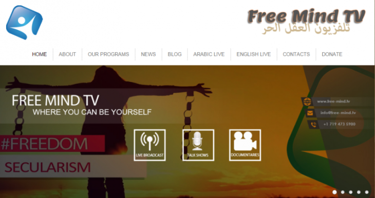 Free Mind TV, an online channel edicated to criticising the foundations of Islam and Christianity (source: Free Mind TV)