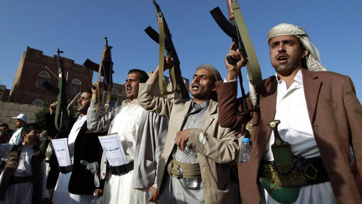Houthi rebels in Yemen (photo: Getty Images/AFP/M. Huwais)