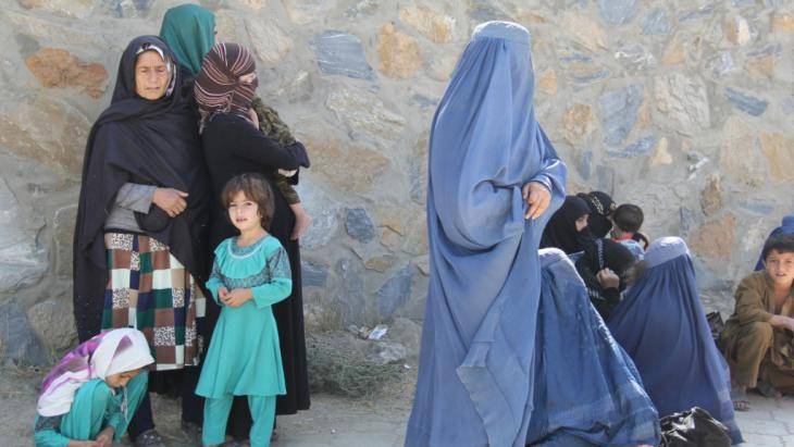 Afghan refugees in Kabul (photo: DW/H. Sirat)