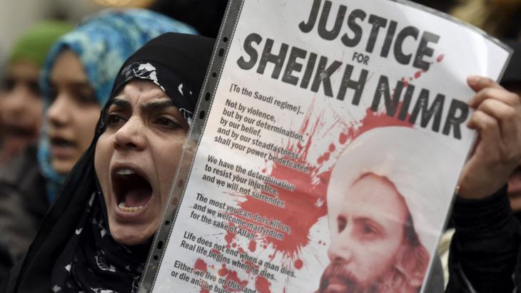 Proteste gegen die Hinrichtung von Nimr al-Nimr in Saudi-Arabien; Foto: Reuters/T. Melville