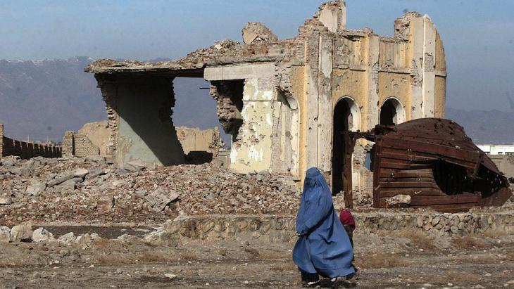 A house destroyed by the civil war in Kabul (photo: AP)