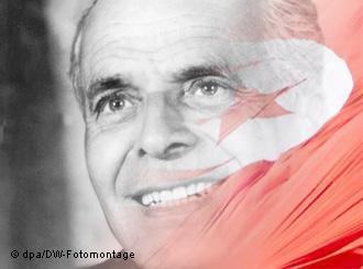 Tunisia′s founding father Habib Bourguiba (photo: dpa/DW photo montage)