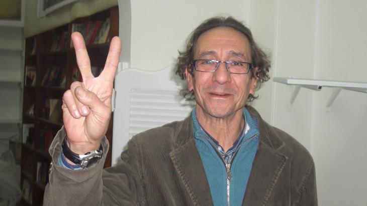Publisher Mohammad Hashem (photo: Samir Grees/DW)