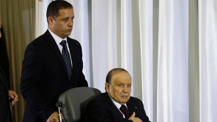 Bouteflika is sworn in for a fourth term as President of Algeria on 28 April 2014 (photo: Reuters)