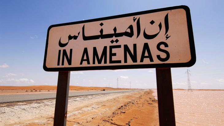 In Amenas road sign in Algeria (photo: picture-alliance/dpa)