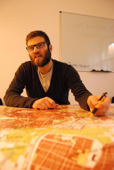 Co-initiator of The Aleppo Project, AlHakam Shaar (photo: Iris Mostegel)
