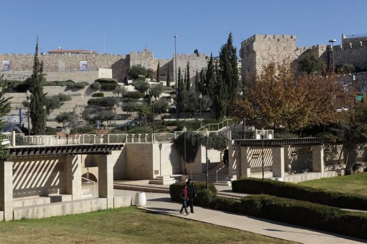 View from Teddy Kollek Park across to the walls of the Old City (photo: Felix Koltermann)