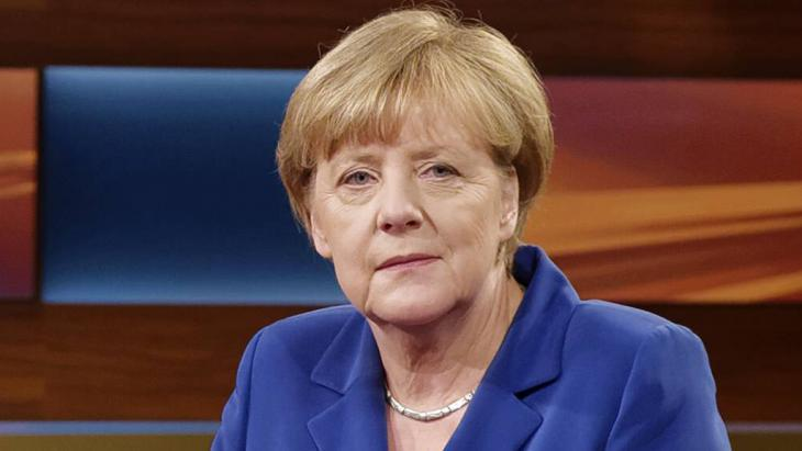 Angela Merkel on ″Anne Will″, an ARD political discussion programme (photo: Imago/j. Heinrich)