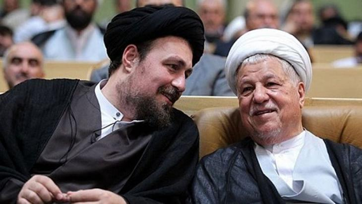 Hassan Khomeini (l.) and Ali Akbar Hashemi Rafsanjani (photo: Tasnim)