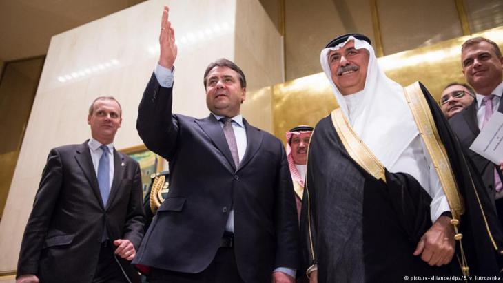 Germany's vice chancellor, Sigmar Gabriel, visits Riyadh