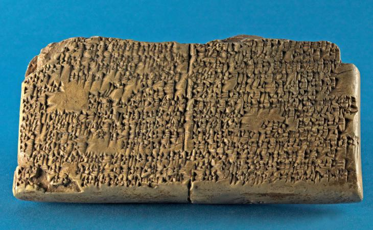 Cuneiform fragment of the epic of Gilgamesh, approx. 1700 B.C. (source: Altorientalistische Lehrsammlung, Johannes Gutenberg University, Mainz)