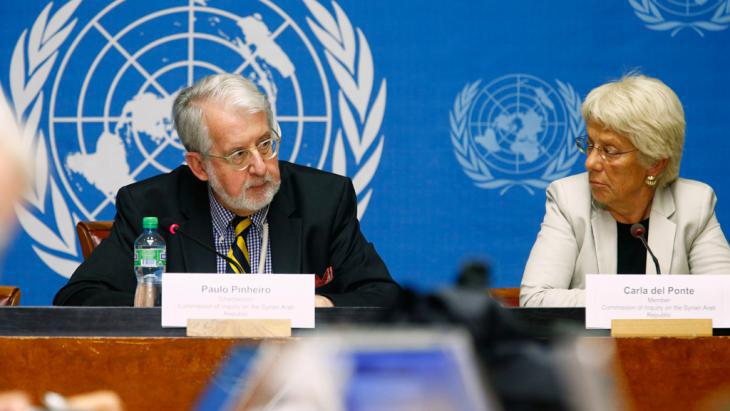 UN Commission presents report on war crimes in Syria (photo: Reuters)