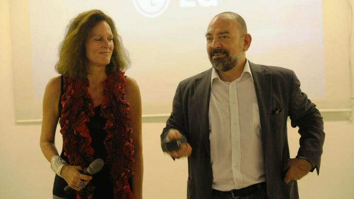 Monika Borgmann and Lokman Slim (r.) (photo: Monika Borgmann)