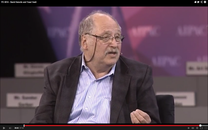 Yossi Vardi (source: AIPAC video screenshot)