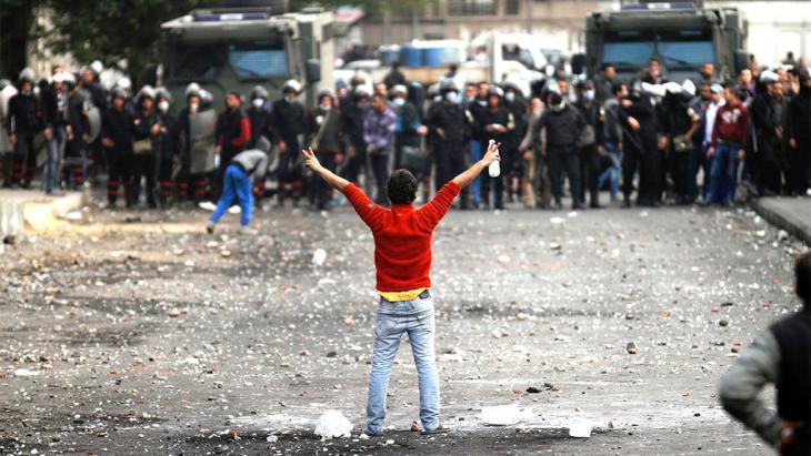 Demonstrators in Cairo (photo: AP)